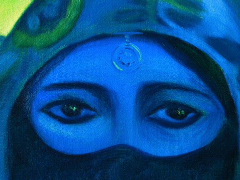 Turkish Maiden detail by Anna Glynn
