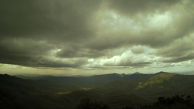 time lapse still of storm at Mt Kaputar