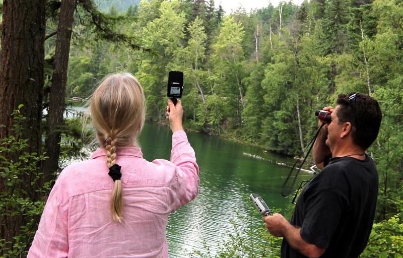Anna Glynn & Peter Dalmazzo field recording at Echo Lake