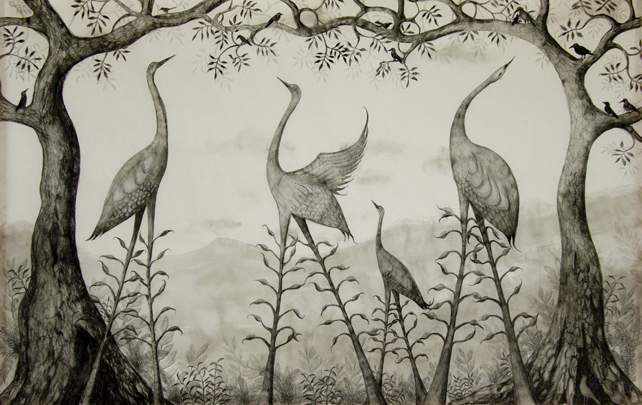 'Memory of Birds and Trees – Family' by Anna Glynn