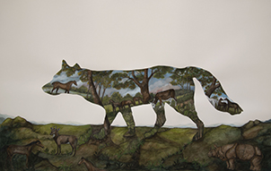 Anna Glynn, 2019 Finalist Ravenswood Australian Women's Art Prize<br> 	'George Stubbs' 1773, Inflatable Dingo'
