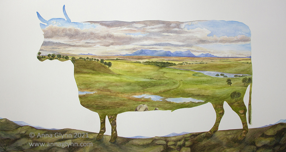 Anna Glynn Finalist 2020 Elaine Bermingham National Watercolour Prize in Landscape Painting